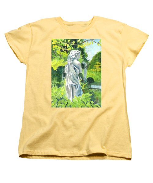 Women's T-Shirt (Standard Cut) featuring the painting A Statue At The Wellers Carriage House -3 by Yoshiko Mishina