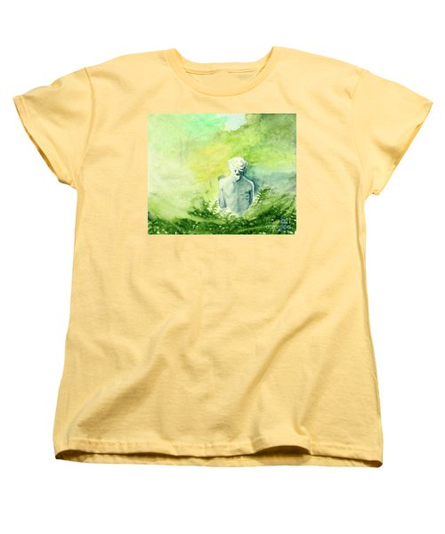 Women's T-Shirt (Standard Cut) featuring the painting A Statue At The Wellers Carriage House -5 by Yoshiko Mishina
