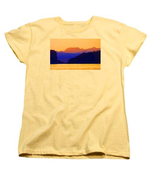 Agua Verde Abstract Women's T-Shirt (Standard Cut) by Anne Mott