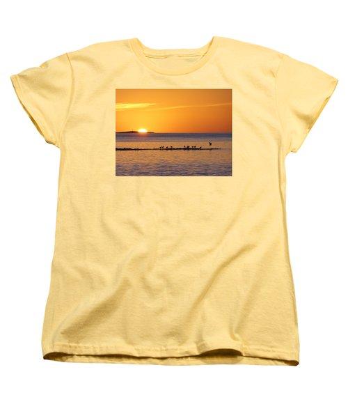 Agua Verde Sunrise Women's T-Shirt (Standard Cut) by Anne Mott