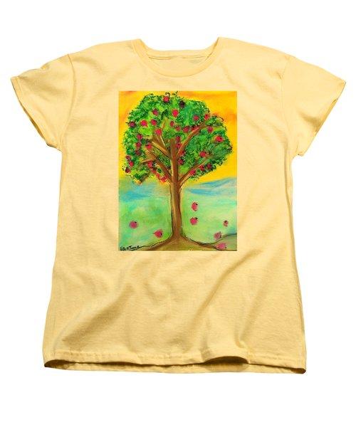 Apple Tree Women's T-Shirt (Standard Cut) by Kelly Turner