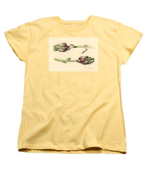 Artichokes Women's T-Shirt (Standard Cut) by Alison Cooper