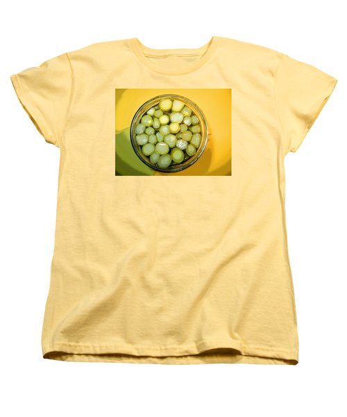 Women's T-Shirt (Standard Cut) featuring the photograph Asparagus In A Jar by Kym Backland