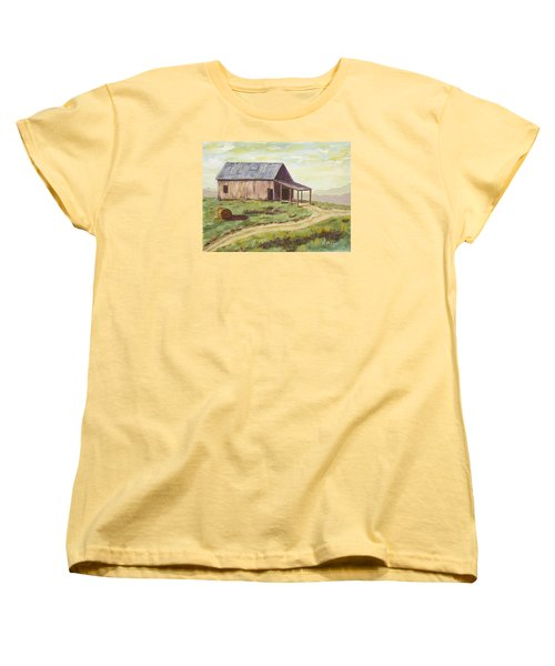 Barn On The Ridge Women's T-Shirt (Standard Cut) by Alan Mager