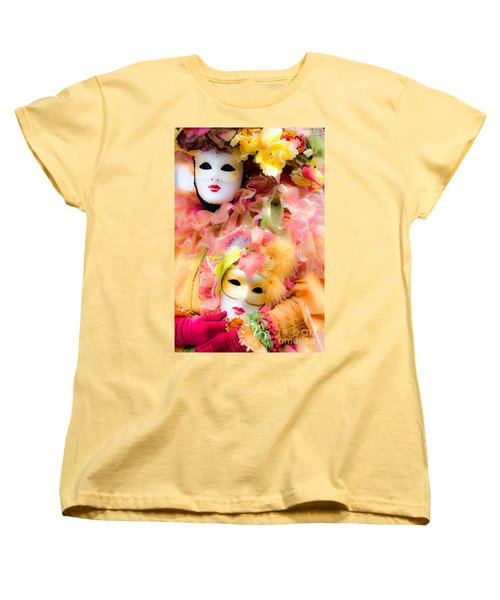 Women's T-Shirt (Standard Cut) featuring the photograph Carnival Mask by Luciano Mortula