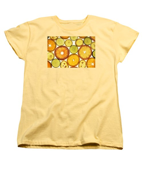 Citrus Slices Women's T-Shirt (Standard Cut) by Photo Researchers