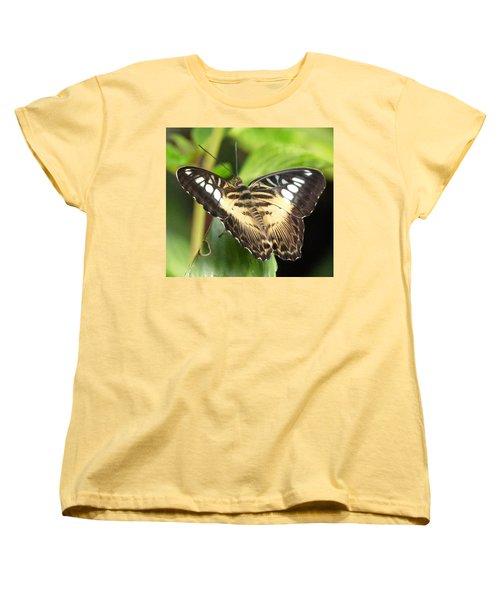 Women's T-Shirt (Standard Cut) featuring the photograph Clipper Butterfly by Lynn Bolt