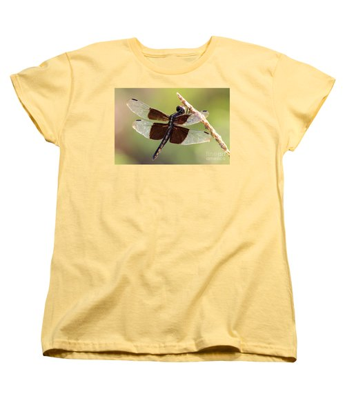 Women's T-Shirt (Standard Cut) featuring the photograph Dragonfly Closeup by Kathy  White