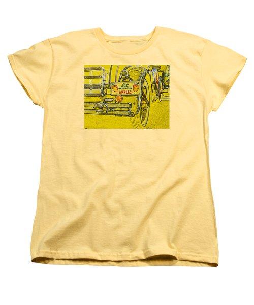 Eat Washington Apples Women's T-Shirt (Standard Cut) by Anne Mott