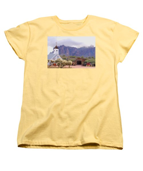 Women's T-Shirt (Standard Cut) featuring the photograph Elvis Memorial Chapel by Tam Ryan