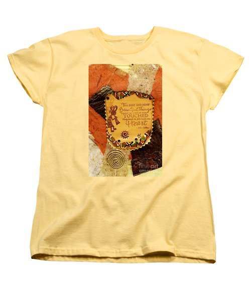 Felt With The Heart Women's T-Shirt (Standard Cut) by Angela L Walker