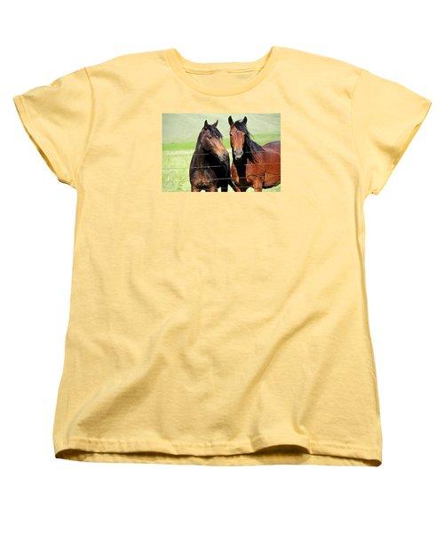 Women's T-Shirt (Standard Cut) featuring the photograph Friends by Fran Riley
