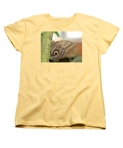 Women's T-Shirt (Standard Cut) featuring the photograph Giant Owl Butterfly by Lynn Bolt