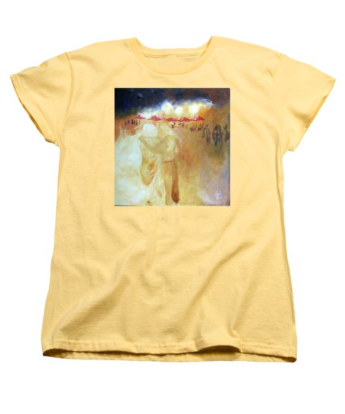 Women's T-Shirt (Standard Cut) featuring the painting Golden Memories by Keith Thue