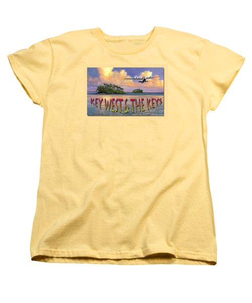 Women's T-Shirt (Standard Cut) featuring the painting Key West Air Force by David  Van Hulst