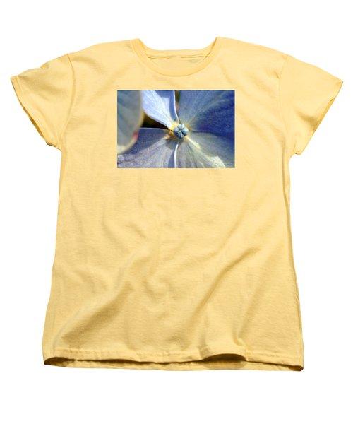 Women's T-Shirt (Standard Cut) featuring the photograph Little Blue Flower by Kay Lovingood
