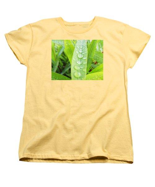 Look Deep Into Nature Women's T-Shirt (Standard Cut) by Anne Mott