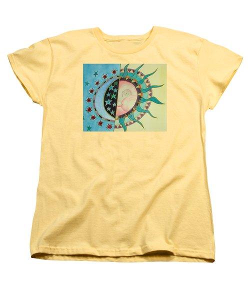 Love You Day And Night Women's T-Shirt (Standard Cut) by Anna Ruzsan