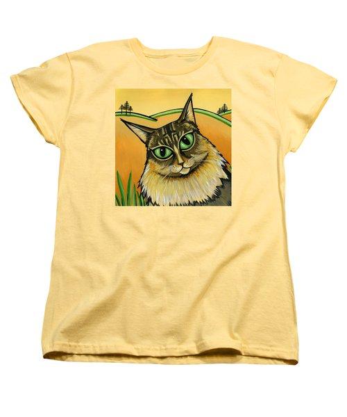 Maine Coone Women's T-Shirt (Standard Cut) by Leanne Wilkes