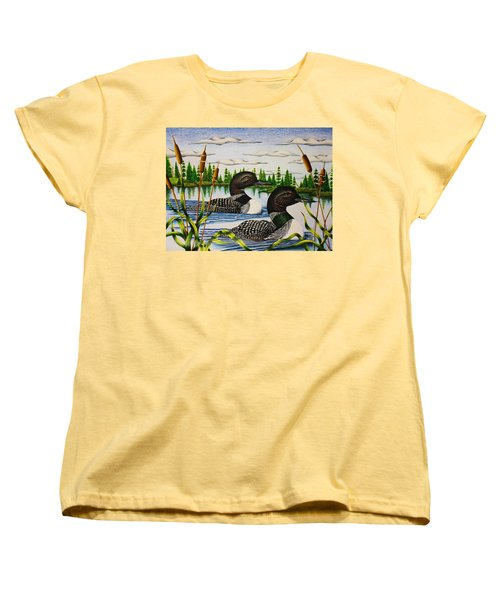 Morning Swim Women's T-Shirt (Standard Cut) by Bruce Bley