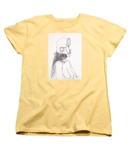 Nude With Hat On Bus Women's T-Shirt (Standard Cut) by Rand Swift