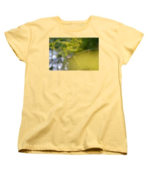 Women's T-Shirt (Standard Cut) featuring the photograph Pond-side Perch by JD Grimes