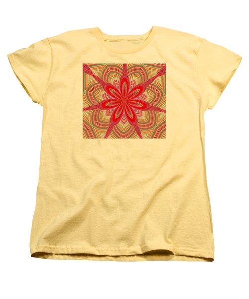 Red Star Brocade Women's T-Shirt (Standard Cut) by Alec Drake