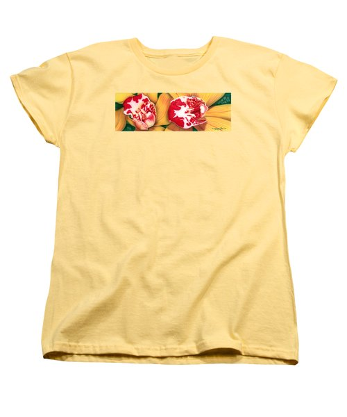 Red White And Yellow Women's T-Shirt (Standard Cut)