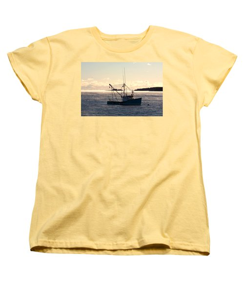 Sea-smoke On The Harbor Women's T-Shirt (Standard Cut) by Brent L Ander