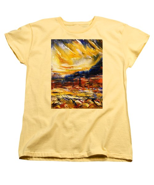 Women's T-Shirt (Standard Cut) featuring the painting Sedona Sky by Karen  Ferrand Carroll