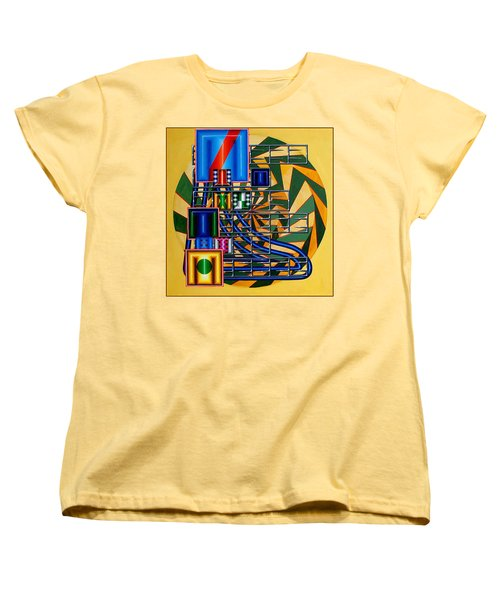 Women's T-Shirt (Standard Cut) featuring the painting Sendintank by Mark Howard Jones