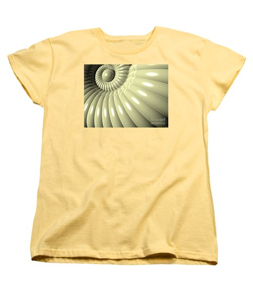 Women's T-Shirt (Standard Cut) featuring the digital art Shell Of Repetition by Phil Perkins