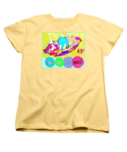 Women's T-Shirt (Standard Cut) featuring the mixed media Special Of The Month by Beth Saffer