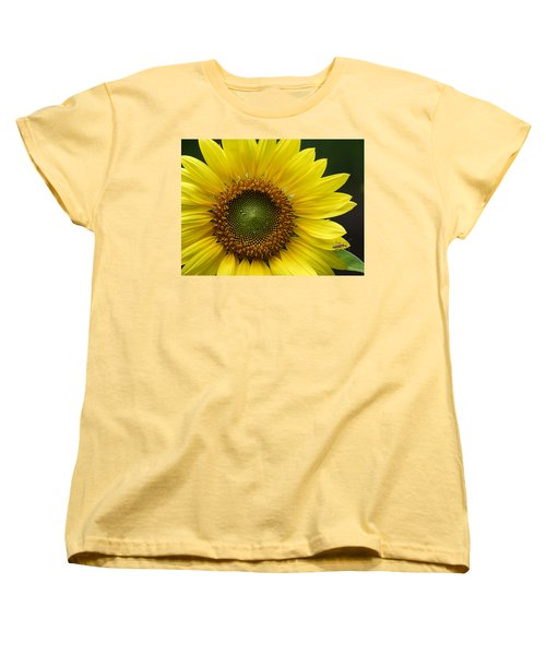 Women's T-Shirt (Standard Cut) featuring the photograph Sunflower With Insect by Daniel Reed