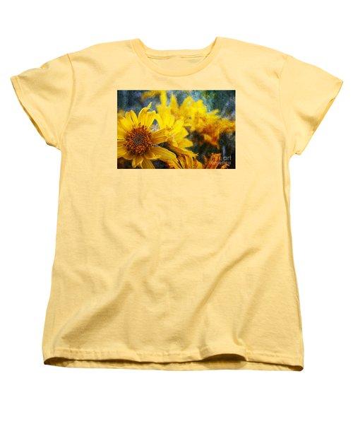 Sunflowers Women's T-Shirt (Standard Cut) by Alyce Taylor