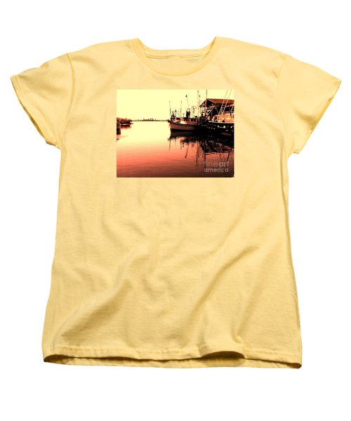Women's T-Shirt (Standard Cut) featuring the photograph Sunset by Janice Spivey