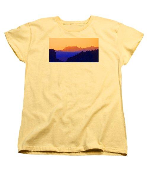 Sunset Over The Sierra Gigantes Women's T-Shirt (Standard Cut) by Anne Mott