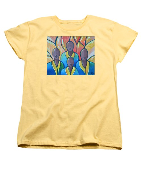 Women's T-Shirt (Standard Cut) featuring the painting The Choir by AC Williams