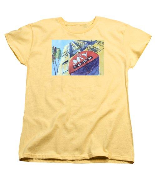 The Sky Room Women's T-Shirt (Standard Cut) by Debbie Lewis