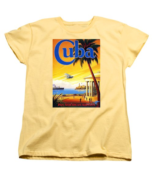 Visit Cuba Women's T-Shirt (Standard Cut) by Reproduction