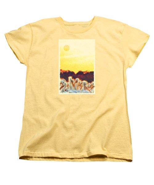 Women's T-Shirt (Standard Cut) featuring the photograph White Pelicans In Sun by Dan Friend