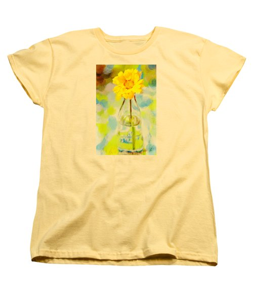 Yellow Flower Women's T-Shirt (Standard Cut) by Toni Hopper