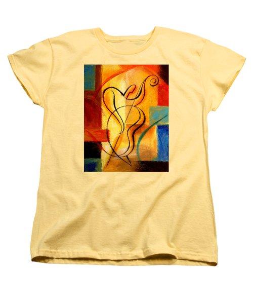 Jazz Fusion Women's T-Shirt (Standard Cut) by Leon Zernitsky