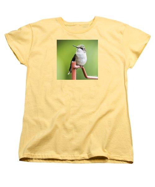 Women's T-Shirt (Standard Cut) featuring the photograph  Ruby-throated Hummingbird  by Ricky L Jones