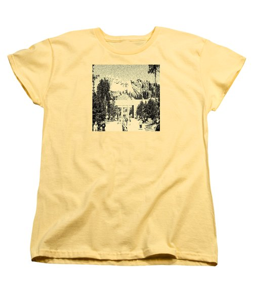 04252015 Mount Rush More Women's T-Shirt (Standard Cut) by Garland Oldham