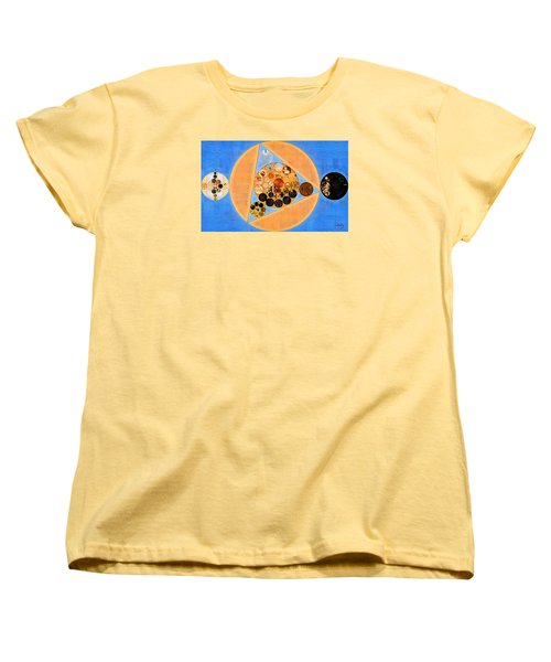 Women's T-Shirt (Standard Cut) featuring the digital art Abstract Painting - Sandy Brown by Vitaliy Gladkiy
