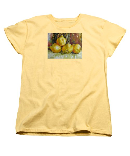 Women's T-Shirt (Standard Cut) featuring the painting Autumn Harmony by Elena Oleniuc