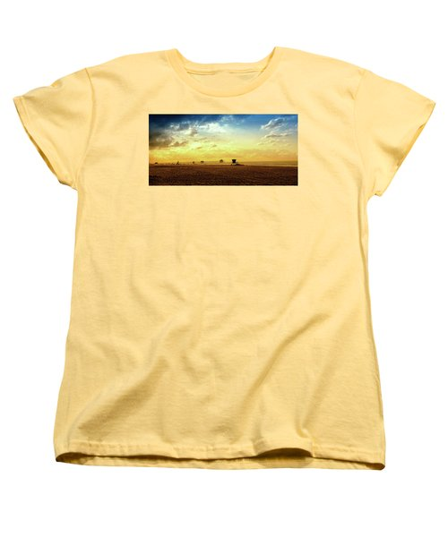 Beach Pier Women's T-Shirt (Standard Cut) by Joseph Hollingsworth