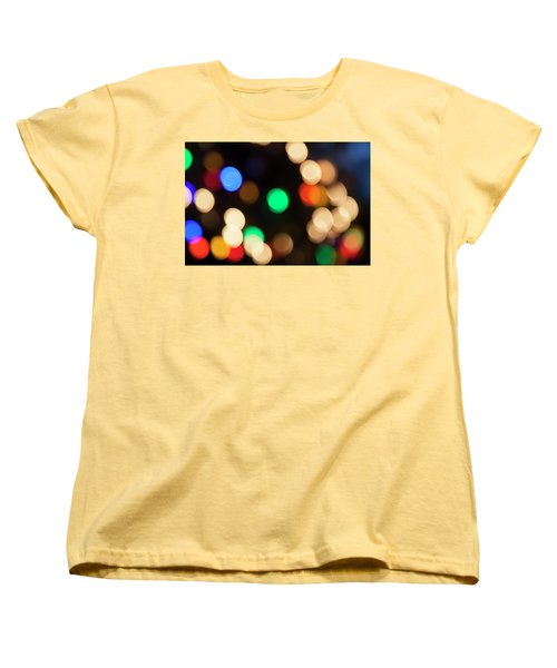 Women's T-Shirt (Standard Cut) featuring the photograph Christmas Lights by Susan Stone