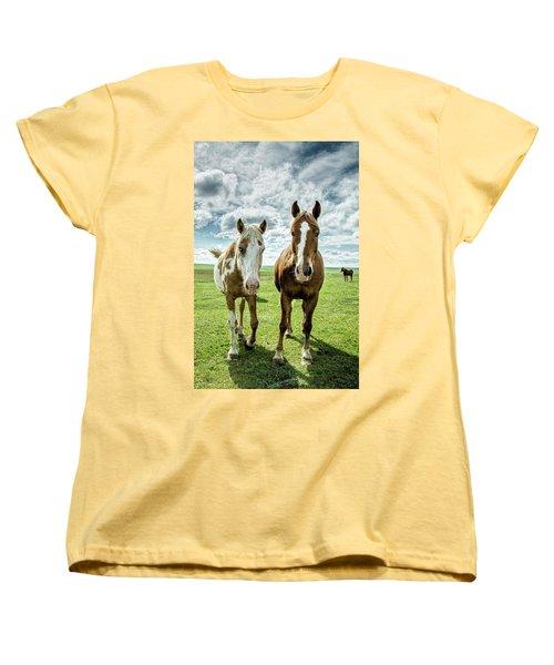 Women's T-Shirt (Standard Cut) featuring the photograph Curious Friends by Kristal Kraft